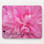 Pink Peony Love Mouse Pad