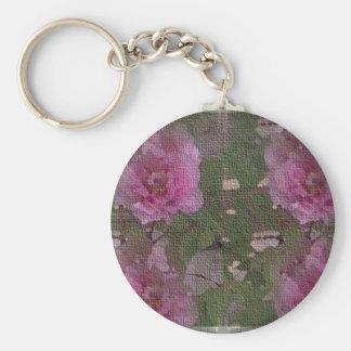 Pink Peony Medley Key Ring