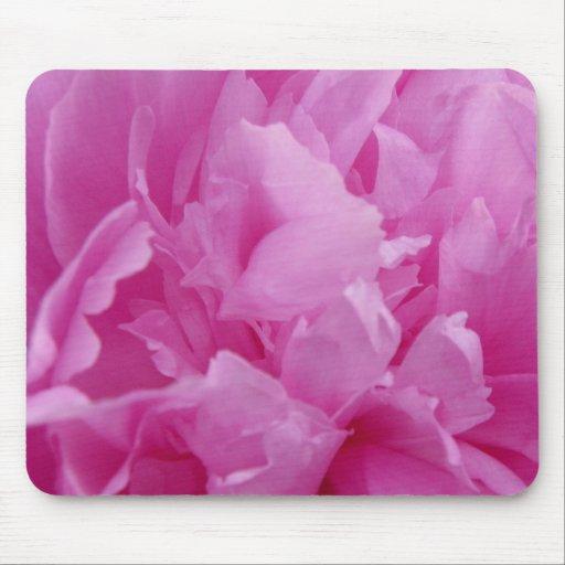Pink Peony Petals Mouse Pad