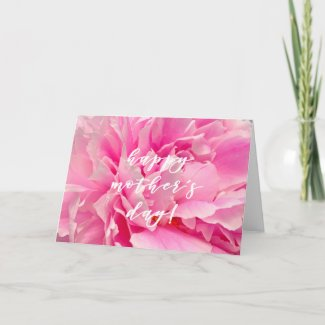 Pink Peony Photo | Happy Mother's Day Card