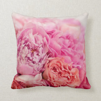 Pink Peony Pillow Cushions