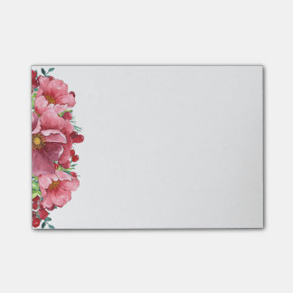 Pink Peony Post-it Notes