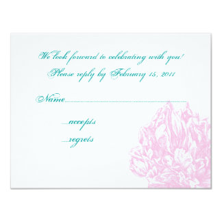 Pink Peony RSVP Personalized Announcement
