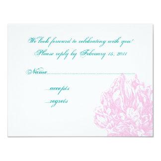 "Pink Peony RSVP 4.25"" X 5.5"" Invitation Card"