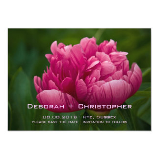 Pink Peony • Save the Date Announcement
