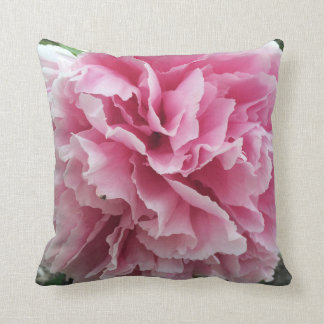 Pink Peony Throw Pillow Cushions