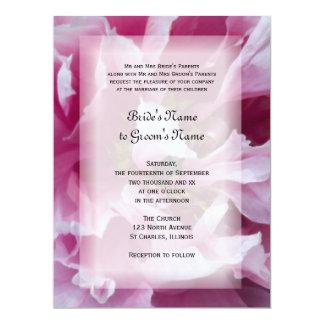 "Pink Peony Wedding Invitation 6.5"" X 8.75"" Invitation Card"