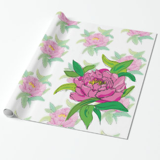 Pink Peony Wrapping Paper