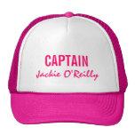 Pink Personalised Captain Cap