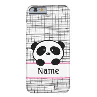 Pink Personalised Panda iPhone 6 Case