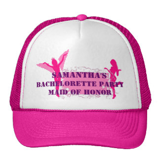 Pink personalized bachelorette party cap