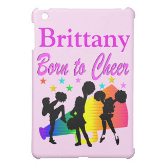 PINK PERSONALIZED BORN TO CHEER IPAD MINI CASE