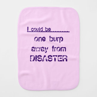 Pink Personalized Funny Burp Cloth