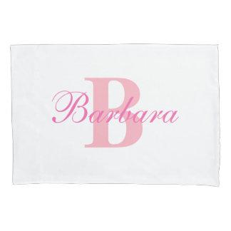 Pink Personalized Monogram Custom Pillow Case
