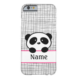 Pink Personalized Panda iPhone 6 Case