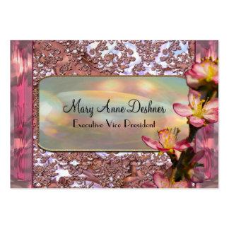"Pink Petal Elegant  3.5"" x 2.5"" Business Card"