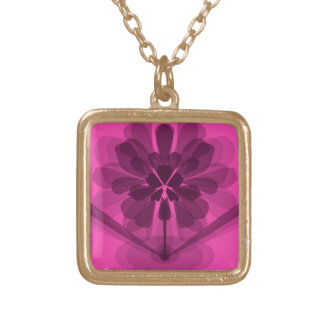 Pink Petals Gold Plated Necklace