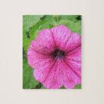 Pink Petunia Flower Puzzle