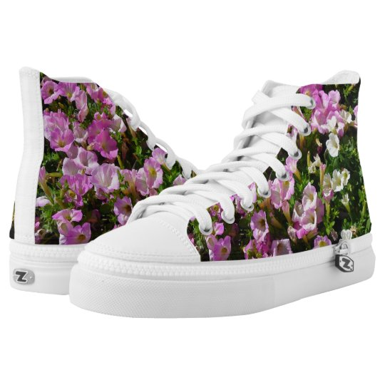 Pink Petunia Flower Shoes