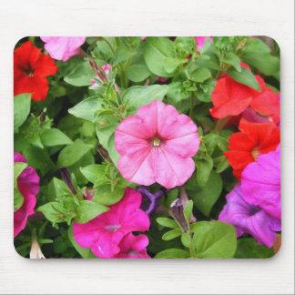 Pink Petunias Mouse Mat