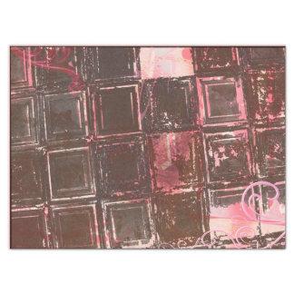 Pink & Pewter chic grunge Tissue Paper
