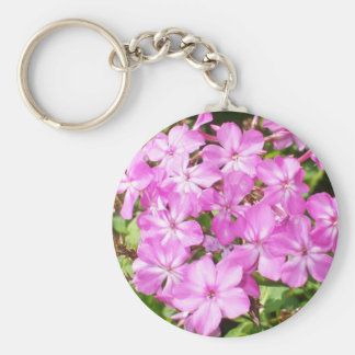 Pink Phlox Bouquet Key Ring