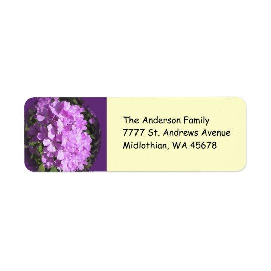 Pink Phlox Return Address Avery Label Return Address Label