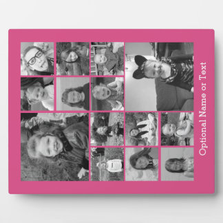 Pink Photo Collage - Add Up to 14 photos Plaque