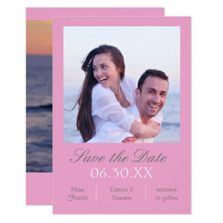 Pink Photo Vertical - 3x5 Save the Date Card