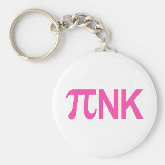 PINK PI NK BASIC ROUND BUTTON KEY RING
