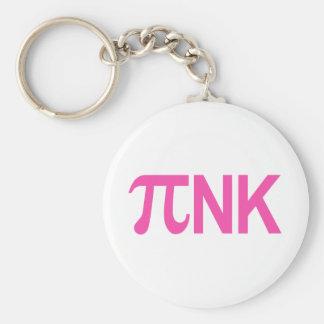 PINK PI NK BASIC ROUND BUTTON KEY RING
