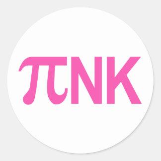 PINK PI NK ROUND STICKER
