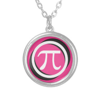 PINK Pi Round Pendant Necklace