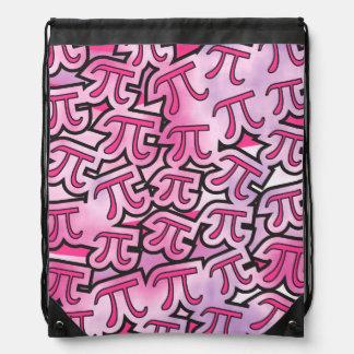 Pink Pi Social Drawstring Bags