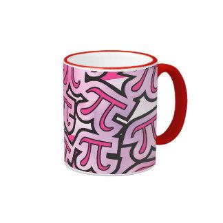 Pink Pi Social - Pi Day Gifts - Math Pi Ringer Mug
