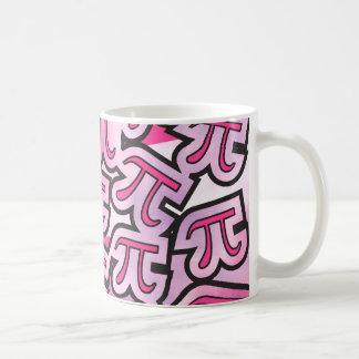 Pink Pi Social - Pi Gifts - Math Pi Basic White Mug