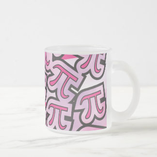 Pink Pi Social - Pi Gifts - Math Pi Frosted Glass Mug