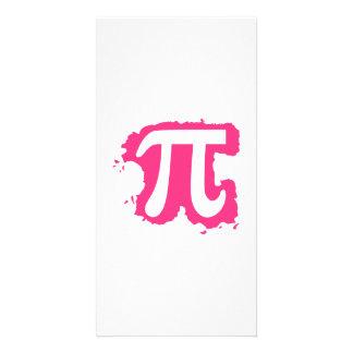 Pink Pi splash Personalized Photo Card