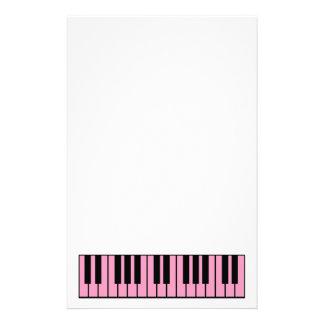 Pink Piano Keyboard Custom Stationery