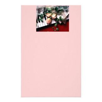 pink piano custom stationery