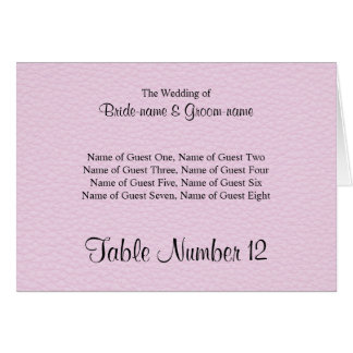Pink Picture of Leather Wedding Place Cards