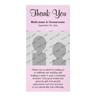Pink Picture of Leather, Wedding Thank You Photo Cards
