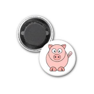Pink Pig 3 Cm Round Magnet