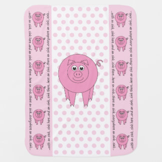 Pink Pig Baby Blanket (one-sided)