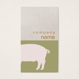 Pink Pig Business Card