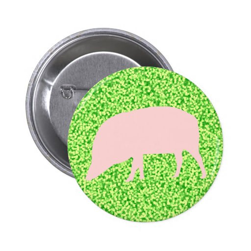 Pink Pig Button
