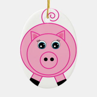 Pink Pig Christmas Ornament