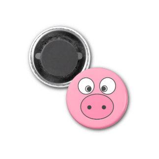 Pink Pig Face Fridge Magnets