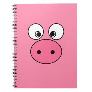 Pink Pig Face Notebook