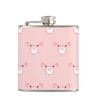 Pink Pig Face Pattern Flasks